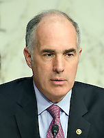 United States Senator Bob Casey (Democrat of Pennsylvania), listens as Janet L. Yellen, Chair, Board of Governors of the Federal Reserve System testifies before the US Congress Joint Economic Committee  on &quot;The Economic Outlook&quot; in Washington, DC on Thursday, November 17, 2016.  In her prepared remarks Yellen stated &quot;With regard to the outlook, I expect economic growth to continue at a moderate pace sufficient to generate some further strengthening in labor market conditions and a return of inflation to the Committee&rsquo;s 2 percent objective over the next couple of years.&quot;<br />