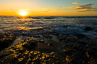 Magical sunset at Tamarindo Beach in Costa Rica on the Pacific Ocean side.