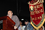 James Cockcroft, an academic researcher, gives a speech before thousands of electric workers during an assembly to propose to build a national movement to oppose the Calderon's government decision and demanding to reverse the decision of the dissolution of the Luz y Fuerza del Centro (LFC) company, October 24, 2009. The Electric Workers Union (SME) is an union since 1914 and it has leadied historic workers struggles in Mexico. Photo by Heriberto Rodriguez