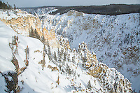 Grand Canyon of the Yellowstone during winter