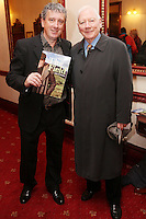 """NO REPRO FEE. 17/1/2010. The Field opening night. Billy Keane and Gay Byrne are pictured at the Olympia Theatre for the opening night of John B Keanes 'The Field"""" Picture James Horan/Collins"""