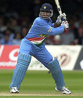.29/06/2002.Sport - Cricket - .NatWest triangler Series England - Sri Lanka - India.England vs india 50 overs.  Lord's ground.India batting - Sourav Ganguly .