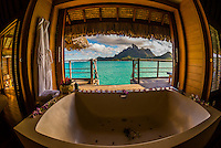 French Polynesia-Bora Bora-Four Seasons Resort-Overwater Bungalows-Interior Views