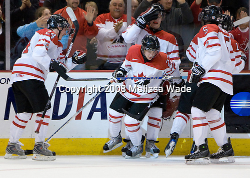 Jamie Benn (Canada - 24), Cody Goloubef (Canada - 17), Tyler Ennis (Canada - 22), PK Subban (Canada - 5), Brett Sonne (Canada - 12). - Team Canada defeated the Czech Republic 8-1 on the evening of Friday, December 26, 2008, at Scotiabank Place in Kanata (Ottawa), Ontario during the 2009 World Juniors U20 Championship.