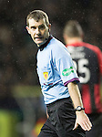 Hibs v St Johnstone....21.12.13    SPFL<br /> Referee Alan Muir<br /> Picture by Graeme Hart.<br /> Copyright Perthshire Picture Agency<br /> Tel: 01738 623350  Mobile: 07990 594431