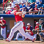 11 March 2014: Washington Nationals infielder Steven Souza in action during a Spring Training game against the New York Yankees at Space Coast Stadium in Viera, Florida. The Nationals defeated the Yankees 3-2 in Grapefruit League play. Mandatory Credit: Ed Wolfstein Photo *** RAW (NEF) Image File Available ***