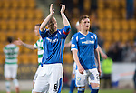 St Johnstone v Celtic&hellip;.McDiarmid Park, Perth.. 11.05.16<br />Steven Anderson applauds the fans at full time<br />Picture by Graeme Hart.<br />Copyright Perthshire Picture Agency<br />Tel: 01738 623350  Mobile: 07990 594431
