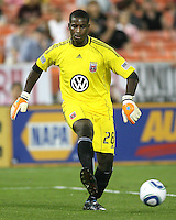 Bill Hamid #28 of D.C. United during an MLS match against Chivas USA at RFK Stadium, on May 29 2010 in Washington DC. United won 3-2.