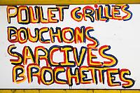 France, île de la Réunion, Saint-Pierre,  enseigne restaurant // France, Reunion island (French overseas department),   restaurant  teach