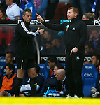 Iain Brines ushers Neil Lennon back to the dugout