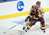 Mike Seidel (Duluth - 17), Patrick Wey (BC - 6) - The Boston College Eagles defeated the University of Minnesota Duluth Bulldogs 4-0 to win the NCAA Northeast Regional on Sunday, March 25, 2012, at the DCU Center in Worcester, Massachusetts.
