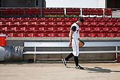 Pitcher Matt Klinker. The 2010 Carolina Mudcats during a practice at Five County Stadium in Zebulon, North Carolina, April 6, 2010.