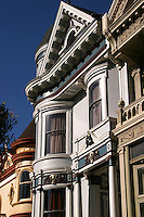 Painted Ladies is a term used for Victorian and Edwardian buildings painted in three or more colors that enhance their architectural details.  About 48,000 houses in the Victorian and Edwardian styles were built in San Francisco between 1849 and 1915 with the change from Victorian to Edwardian occurring on the death of Queen Victoria in 1901, and many were painted in bright colors.  One of the best known groups of &quot;Painted Ladies&quot; is the row of Victorian houses on Steiner Street bordering Alamo Square park in San Francisco. This block appears very frequently in media photographs of the city.