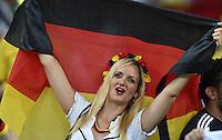 FUSSBALL WM 2014                HALBFINALE Brasilien - Deutschland          08.07.2014 Ein Fan der deutschen Nationalmannschaft