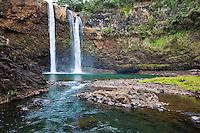 Wailua Falls on the island of Kauai