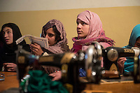 Afghan Women learn craft, embroidery, computing, English, literacy and employment skills at a centre run by the Organisation of Promoting Afghan Women's Capabilities (OPAWC) in Kabul. OPAWC focuses on providing education and earning potential for young women from poor Afghan families and also widows with children. The programmes run by the organisation are under threat because much of its funding comes from Europe which is affected by the recession and austerity.