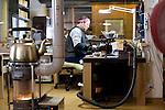 Photo shows an unnamed artisan making Tsugaru lacquerware products in Hirosaki, Japan on 18 Jan. 2013. Photo: Robert Gilhooly..