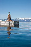 """Light Post on Lake Tahoe"" - This light post on a dock was photographed on the East Shore of Lake Tahoe, CA."