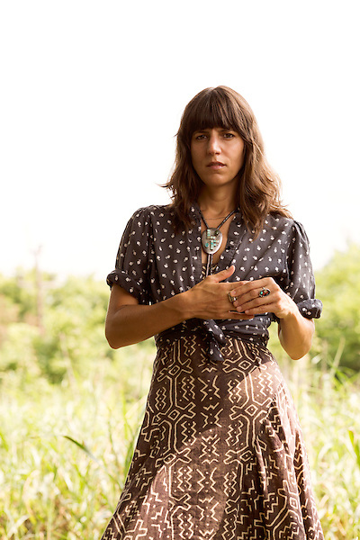 July 24, 2014. Carrboro, North Carolina.<br />  Eleanor Friedberger. <br />  Day two of the MERGE 25 festival, celebrating the 25 year history of the independent record label.