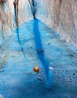 Blue Crevasse on Walker Glacier, Glacier Bay National Park and Preserve, Alaska