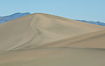 Lines and shapes of the sand dunes in Death Valley