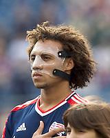 New England Revolution defender Kevin Alston (30). In a Major League Soccer (MLS) match, DC United defeated the New England Revolution, 2-1, at Gillette Stadium on April 14, 2012.