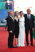 VENICE, ITALY - SEPTEMBER 08: Actor Emmanuel Salinger, actresses Lily-Rose Depp and Natalie Portman, director of festival Alberto Barbera attend the premiere of 'Planetarium' during the 73rd Venice Film Festival at Sala Grande on September 8, 2016 in Venice, Italy. <br /> CAP/GOL<br /> &copy;GOL/Capital Pictures /MediaPunch ***NORTH AND SOUTH AMERICAS ONLY***