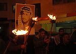 Palestinian supporters of  President Mahmoud Abbas during a celebration marking the 45th anniversary of the Fatah movement's founding, in the West Bank city of Nablus,Thursday, Dec 31, 2009. Photo By Nedal Shtieh