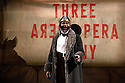 THE THREEPENNY OPERA by Bertolt Brecht and Kurt Weill in a new adaptation by Simon Stephens, directed by Rufus Norris, opens in the Olivier Theatre on 26 May as part of the £15 Travelex season. Lighting design is by Paule Constable with set and costume design by Vicki Mortimer. Picture shows: George Ikediashi (Balladeer)