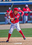 28 February 2016: Washington Nationals outfielder Reed Johnson in action during an inter-squad pre-season Spring Training game at Space Coast Stadium in Viera, Florida. Mandatory Credit: Ed Wolfstein Photo *** RAW (NEF) Image File Available ***