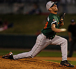 Miami pitcher Jon McLean..(Chris Machian/Prairie Pixel Group)