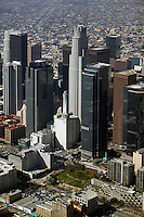 aerial photograph downtown Los Angeles, California