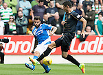 St Johnstone v Celtic&hellip;20.08.16..  McDiarmid Park  SPFL<br />Richie Foster clears from Nir Bitton<br />Picture by Graeme Hart.<br />Copyright Perthshire Picture Agency<br />Tel: 01738 623350  Mobile: 07990 594431