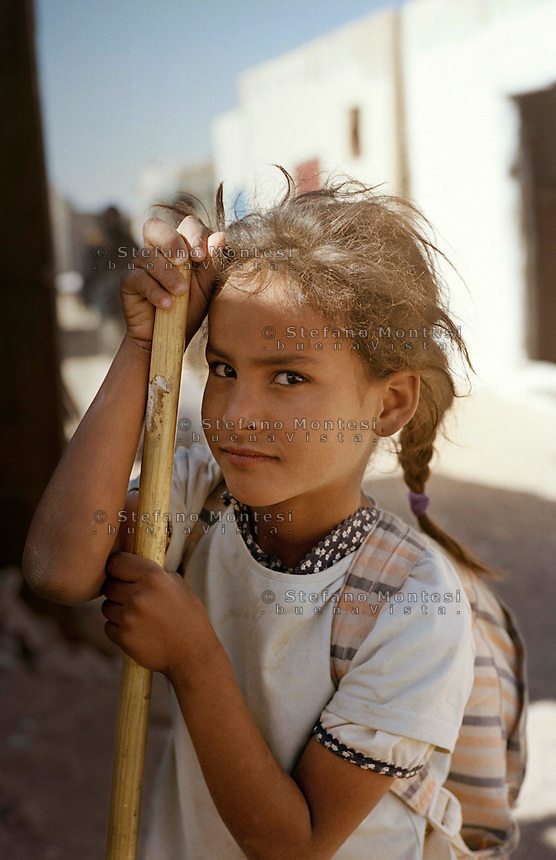 The Saharawi refugee camp  Smara..Sahrawi child.January 2008