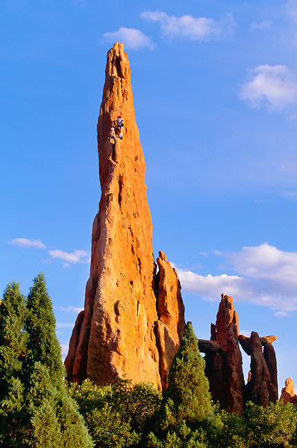 Rock Climbers On 39 Montezuma 39 S Tower 39 Garden Of The Gods Colorado Springs Colorado George H