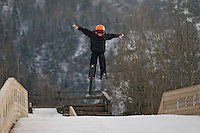 ski jumping in Les Houches