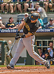 22 March 2015: Pittsburgh Pirates outfielder Steve Lombardozzi in Spring Training action against the Houston Astros at Osceola County Stadium in Kissimmee, Florida. The Astros defeated the Pirates 14-2 in Grapefruit League play. Mandatory Credit: Ed Wolfstein Photo *** RAW (NEF) Image File Available ***