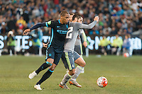 Melbourne, 24 July 2015 - Fernando of Manchester City and Isco Alarcon of Real Madrid fight for the ball in game three of the International Champions Cup match between Manchester City and Real Madrid at the Melbourne Cricket Ground, Australia. Real Madrid def City 4-1. (Photo Sydney Low / AsteriskImages.com)