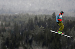 16 January 2009: Anton Kushnir from Belarus performs aerial acrobatics during the FIS Freestyle World Cup warm-ups at the Olympic Ski Jumping Facility in Lake Placid, NY, USA. Mandatory Photo Credit: Ed Wolfstein Photo. Contact: Ed Wolfstein, Burlington, Vermont, USA. Telephone 802-864-8334. e-mail: ed@wolfstein.net