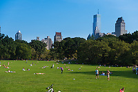 Sheep meadow in Central park in summer tine, New York