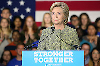 PHILADELPHIA, PA - SEPTEMBER 19: Democratic presidential nominee former Secretary of State Hillary Clinton pictured delivering a speech for Millennials at Temple University in Philadelphia, Pennsylvania  on September 19, 2016  photo credit  Star Shooter/MediaPunch