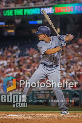22 July 2016: San Diego Padres outfielder Alex Dickerson in action against the Washington Nationals at Nationals Park in Washington, DC. The Padres defeated the Nationals 5-3 to take the first game of their 3-game, weekend series. Mandatory Credit: Ed Wolfstein Photo *** RAW (NEF) Image File Available ***