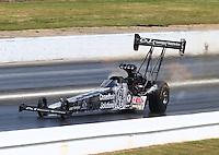 May 16, 2015; Commerce, GA, USA; NHRA top fuel driver Larry Dixon during qualifying for the Southern Nationals at Atlanta Dragway. Mandatory Credit: Mark J. Rebilas-USA TODAY Sports