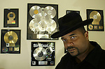 "After a six-year-break from music making, Anthony Ray, known in the music industry as Sir-Mix-A-Lot, has been working on his new album in his studio on Monday, Sept., 8, 2003 in Auburn, Wash. A 1992 Grammy Award winner he will release his new album titled ""Daddy's Home"", tomorrow. (AP Photo/Jim Bryant)"