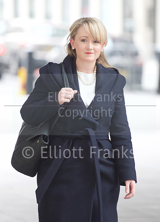 Andrew Marr Show arrivals <br /> BBC, Broadcasting House, London, Great Britain <br /> 12th March 2017 <br /> <br /> <br /> <br /> <br /> Rebecca Long-Bailey MP for Salford and Eccles<br /> <br /> <br /> <br /> Photograph by Elliott Franks <br /> Image licensed to Elliott Franks Photography Services