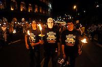 Roma 24 Settembre 2009.Manifestazione di protesta contro il razzismo e l'intolleranza in  seguito ai recenti episodi  di violenza contro i gay a Roma. Rome 24 September 2009.Protest against racism and intolerance following of recent incidents of violence against gays in Rome .the banner reads: Rome against intolerance and all forms of racism