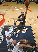 CHARLOTTESVILLE, VA- DECEMBER 6:  Ryan Pearson #24 of the George Mason Patriots shoots over Assane Sene #5 of the Virginia Cavaliers during the game on December 6, 2011 at the John Paul Jones Arena in Charlottesville, Virginia. Virginia defeated George Mason 68-48.(Photo by Andrew Shurtleff/Getty Images) *** Local Caption *** Assane Sene;Ryan Pearson