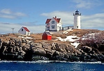 Nubble Light, York, ME on a winter day.