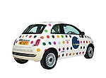 Fiat 500 with corporate logo