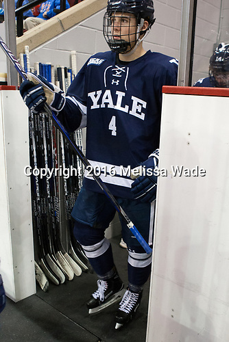 Matt Foley (Yale - 4) - The Boston University Terriers defeated the visiting Yale University Bulldogs 5-2 on Tuesday, December 13, 2016, at the Agganis Arena in Boston, Massachusetts.